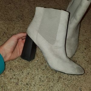 Light gray ankle boots